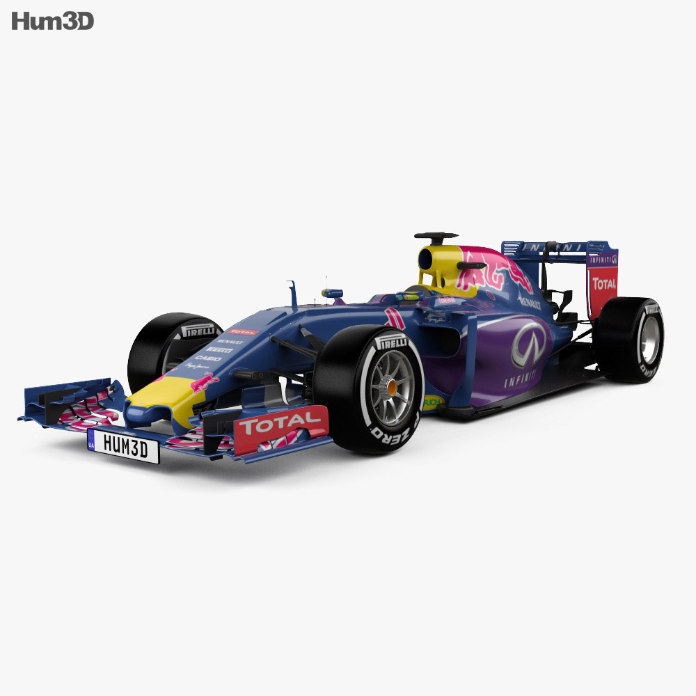 Infiniti RB11 F1 2015 3d model