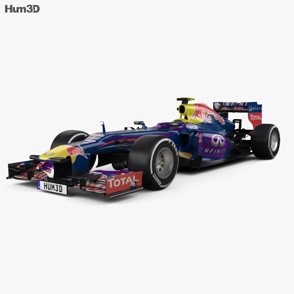 Infiniti RB9 Red Bull Racing F1 2013 3d model
