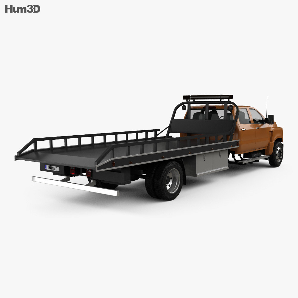 international cv crew cab rollback truck 2018 3d model