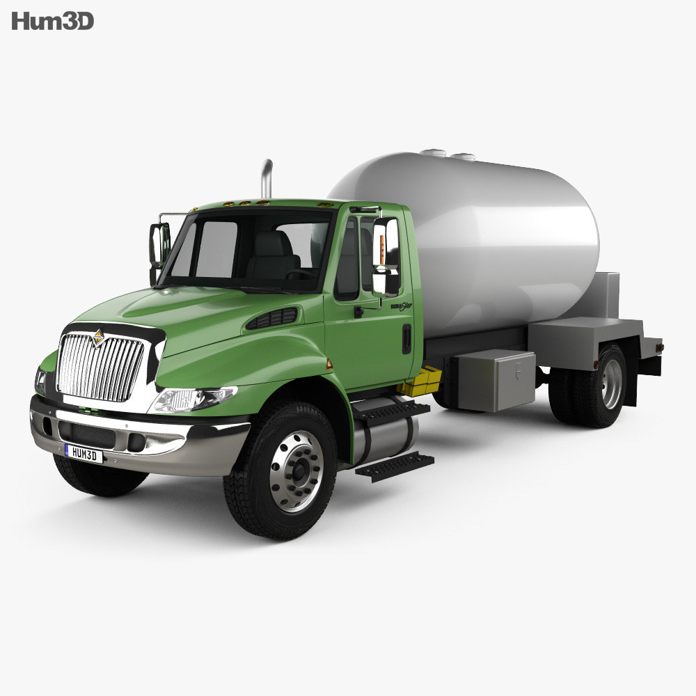 International Durastar Tanker Truck 2002 3d model