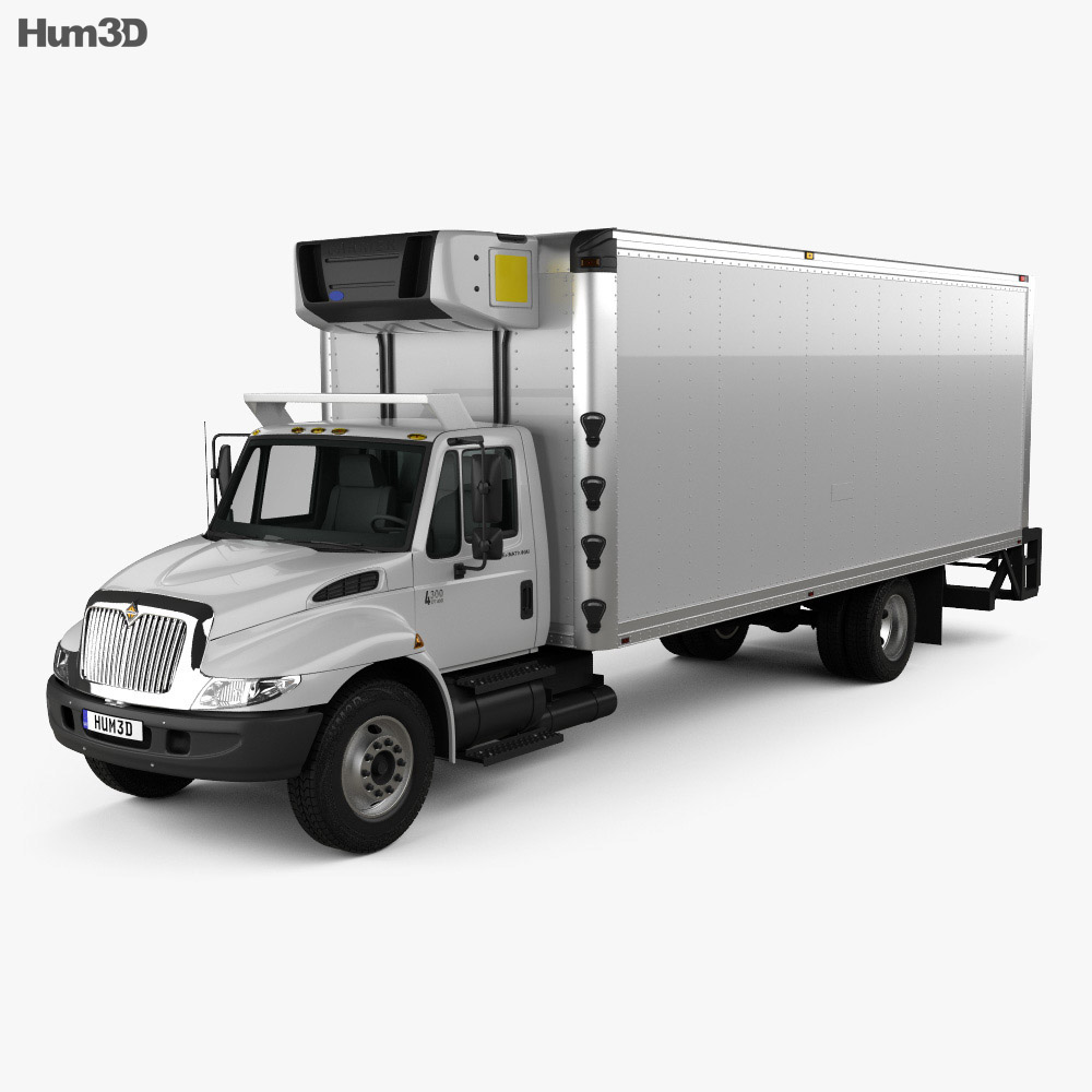International Durastar 4300 Refrigerator Truck 2007 3d model