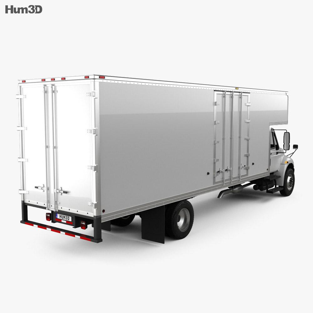 International Durastar 4700 Box Truck 2010 3d model