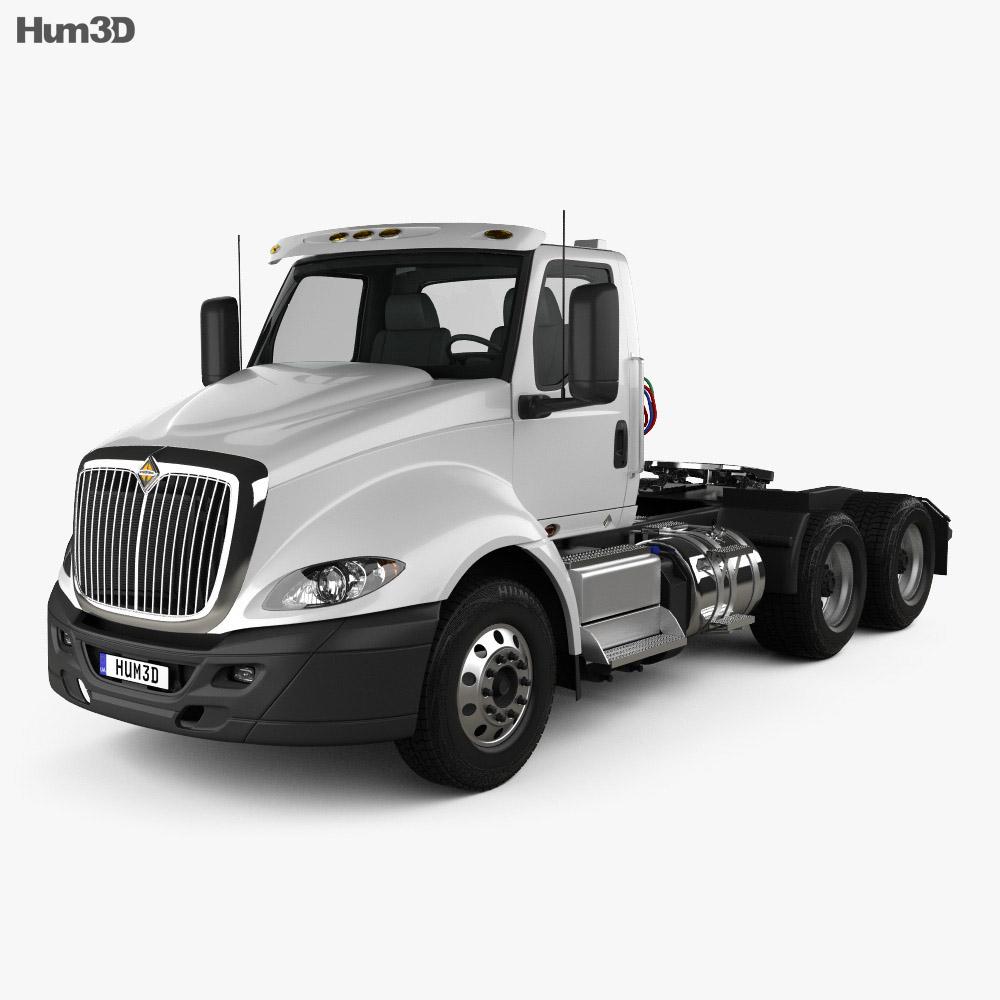 International RH Day Cab Tractor Truck 2018 3d model