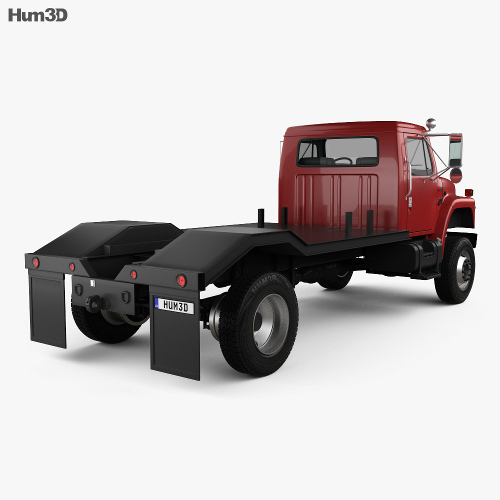 International S1900 Flatbed Truck 1986 3d model