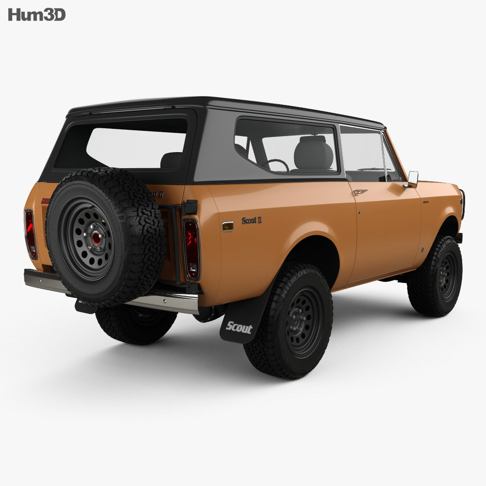 International Scout II 1976 3d model