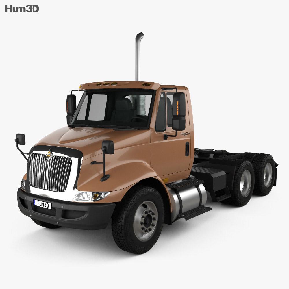 International Transtar Tractor Truck 2002 3d model