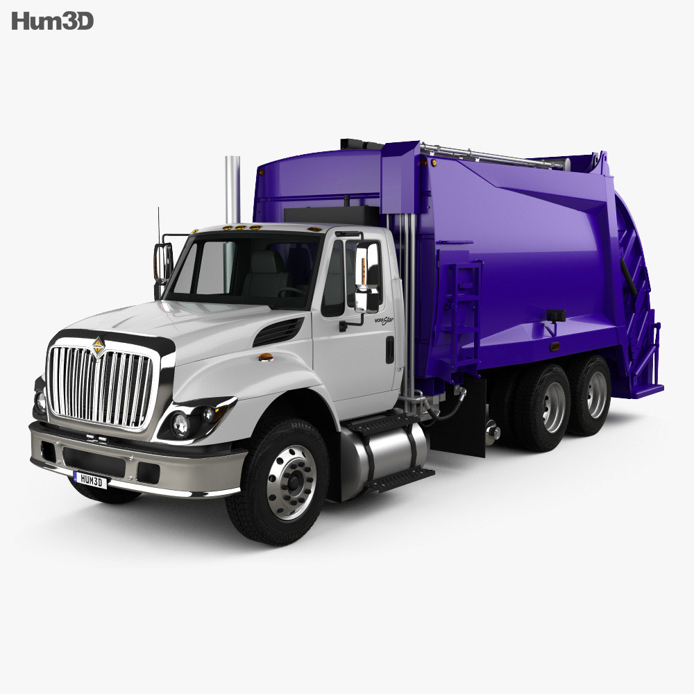 International WorkStar Garbage Truck Rolloffcon 2008 3d model