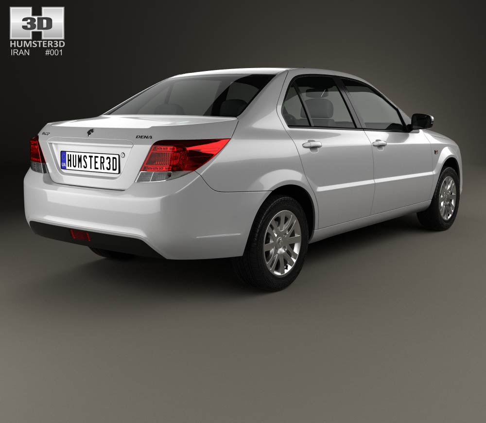 Iran Khodro Dena 2015 3d model