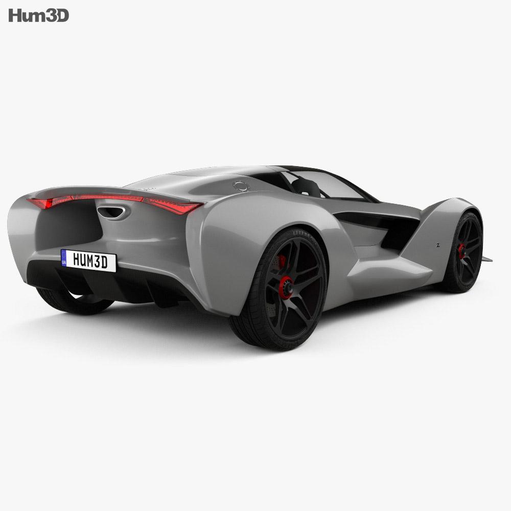 Iso Rivolta Vision Gran Turismo 2017 3d model