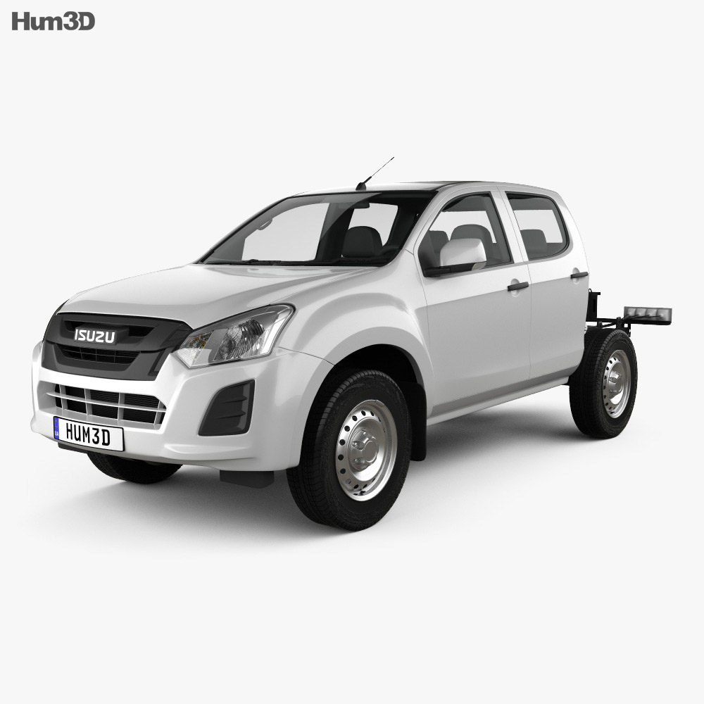 Isuzu D-Max Double Cab Chassis SX 2017 3d model