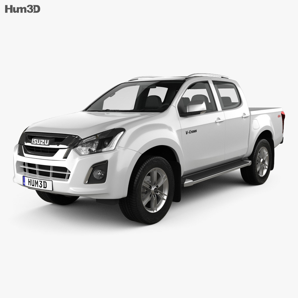 Isuzu D-Max Double Cab Ute LS 2017 3d model