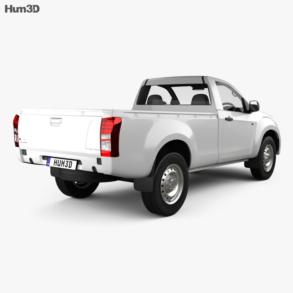 Isuzu D-Max Single Cab Ute SX 2017 3d model