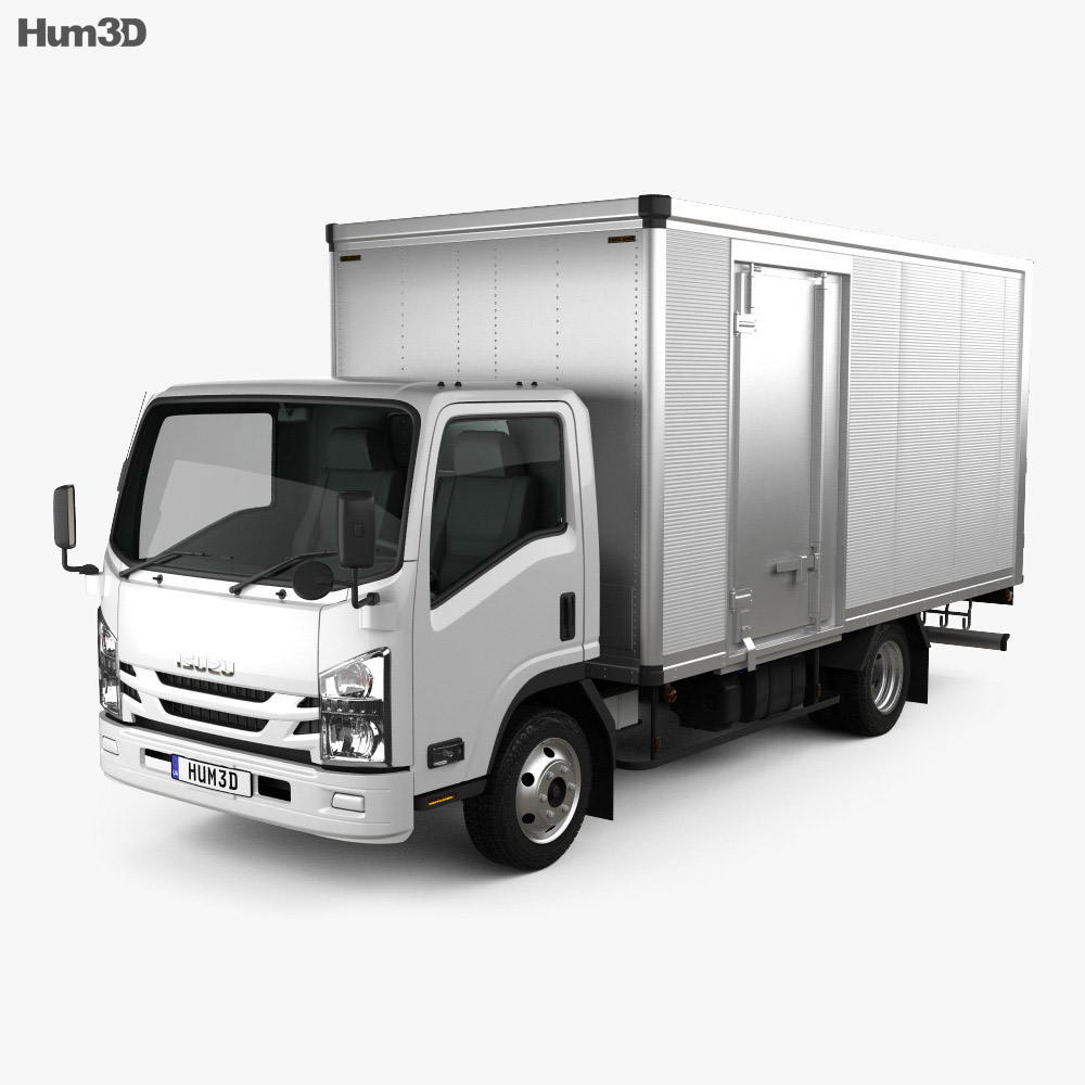 Isuzu Elf Box Truck 2017 3d model