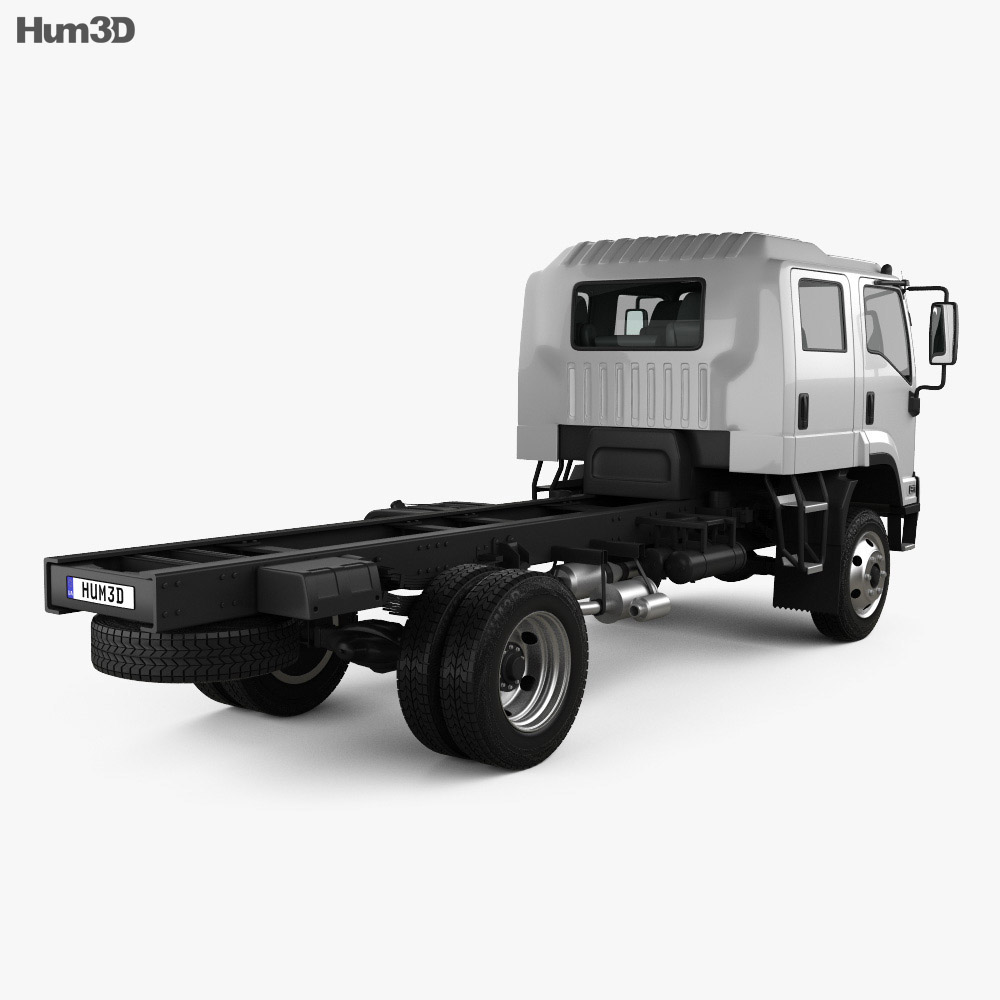 Isuzu FTS 800 Crew Cab Chassis Truck 2014 3d model