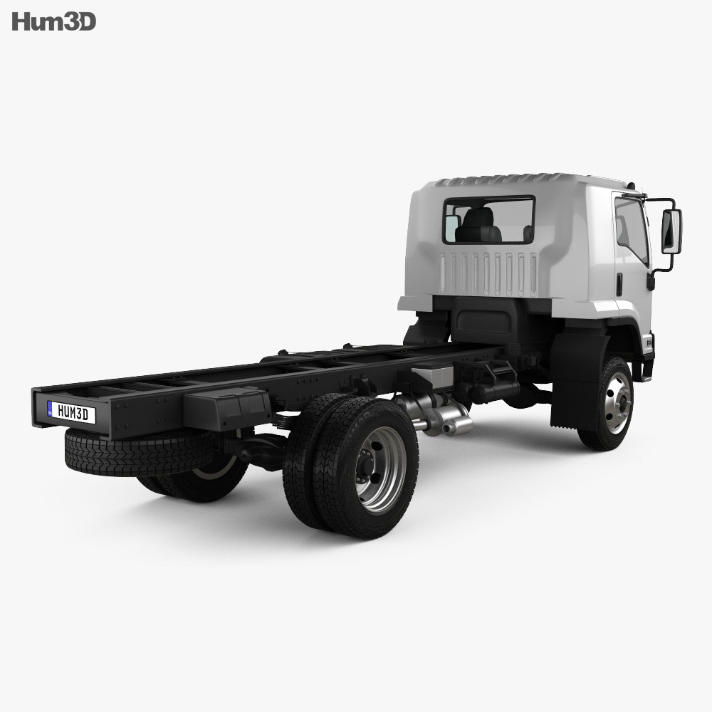 Isuzu FTS 800 Single Cab Chassis Truck 2014 3d model