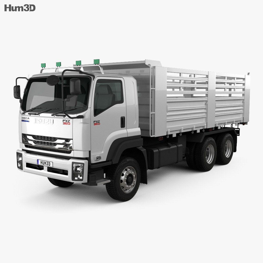 Isuzu FXZ 360 Flatbed Truck 2017 3d model