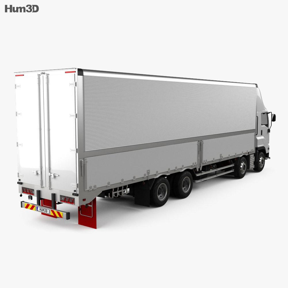 Isuzu Giga Box Truck 4-axle 2017 3d model