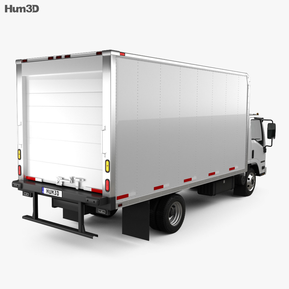 Isuzu NRR Refrigerator Truck 2010 3d model