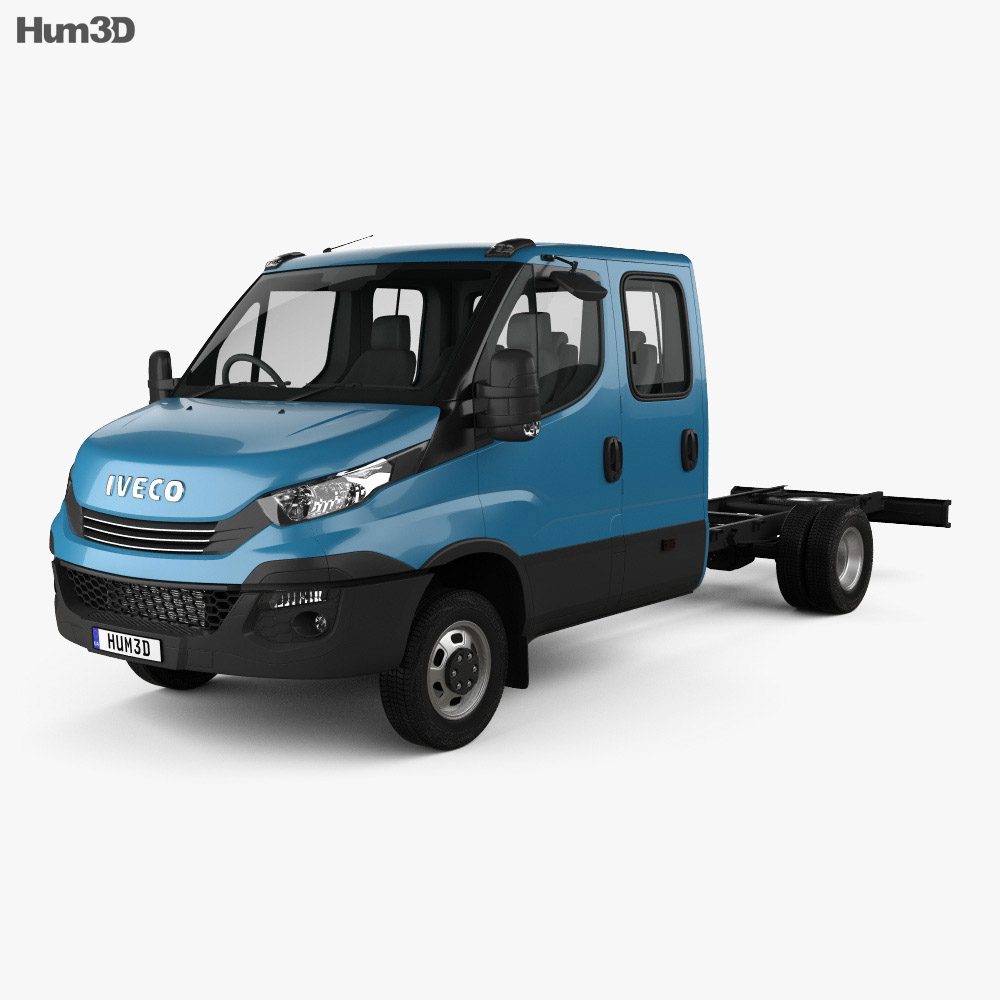 Iveco Daily Dual Cab Chassis 2017 3d model