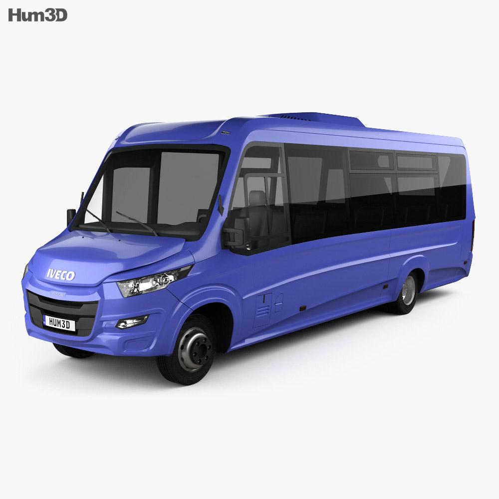 W Mega Iveco Daily VSN-700 Bus 2018 3D model - Vehicles on Hum3D PL68