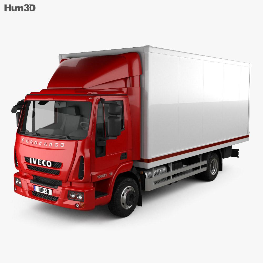 3D model of Iveco EuroCargo Box Truck 2013