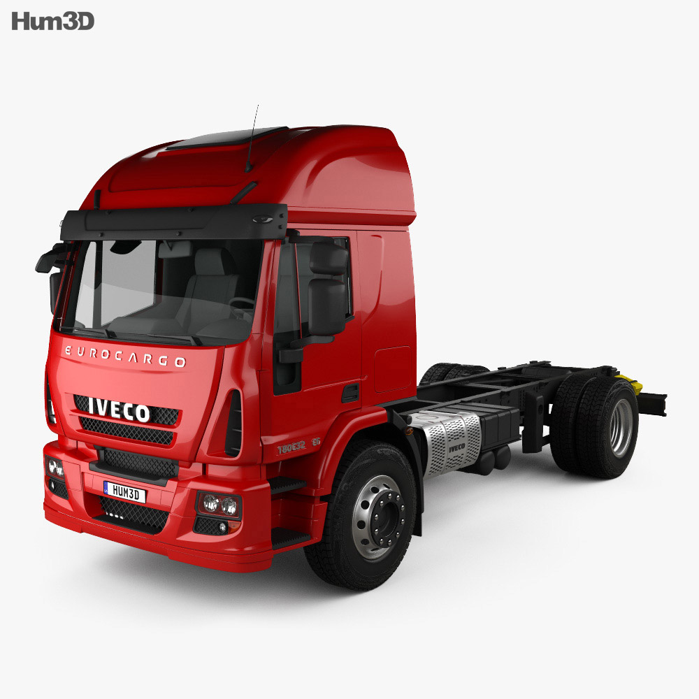 Iveco EuroCargo Chassis Truck 2013 3d model