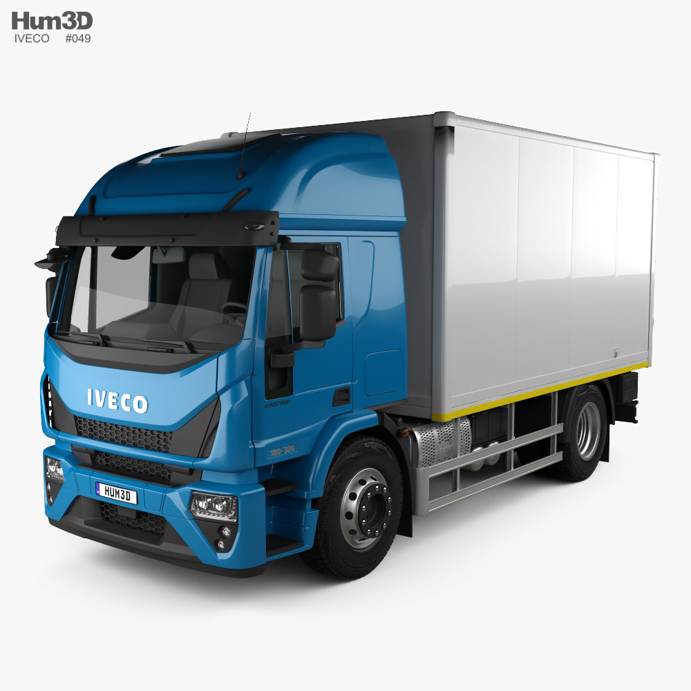 Iveco EuroCargo Box Truck 2019 3d model