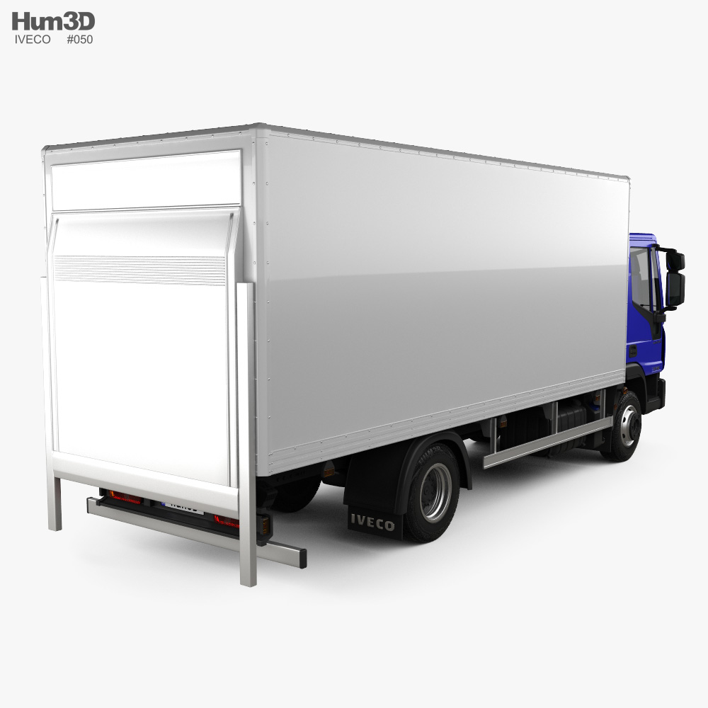 Iveco EuroCargo Box Truck 2015 3d model