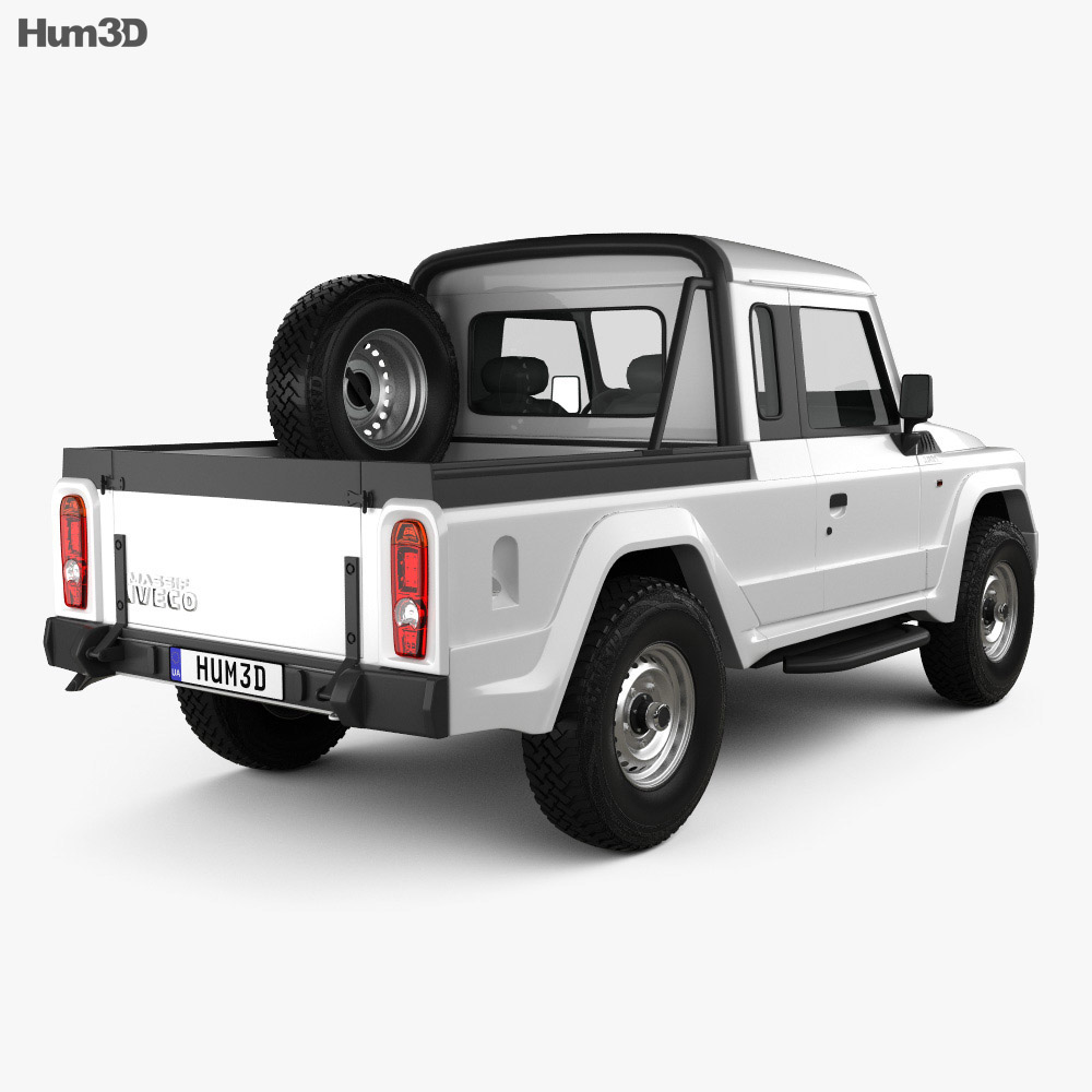 Iveco Massif pickup 2011 3d model