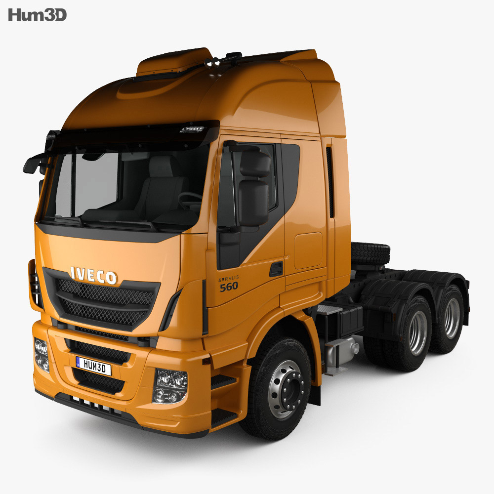 Iveco Stralis Tractor Truck 2012 3d model