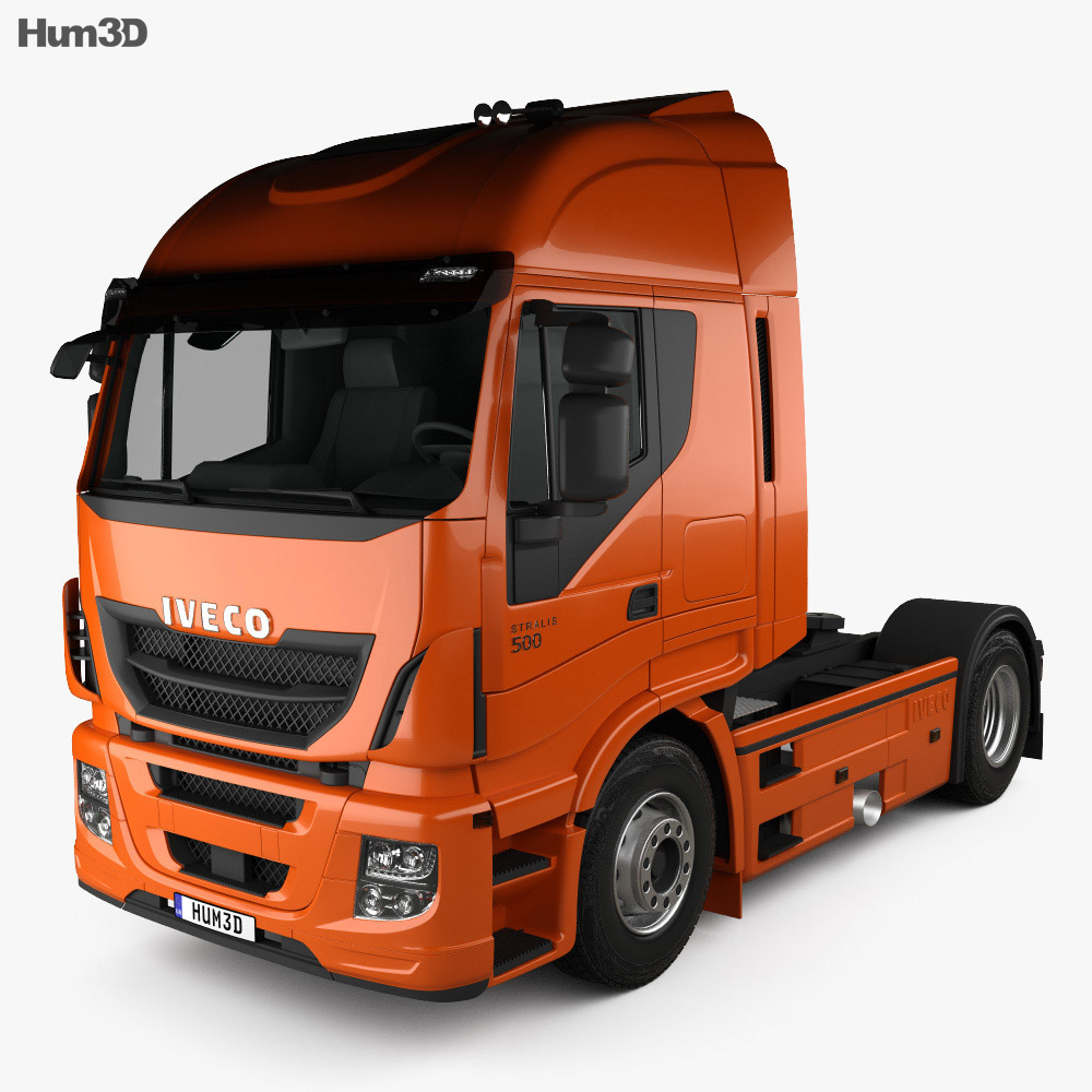 3D model of Iveco Stralis (500) Tractor Truck 2012