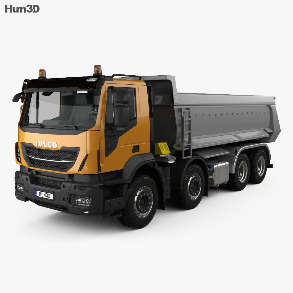 Iveco Stralis X-WAY Tipper Truck 2017 3d model