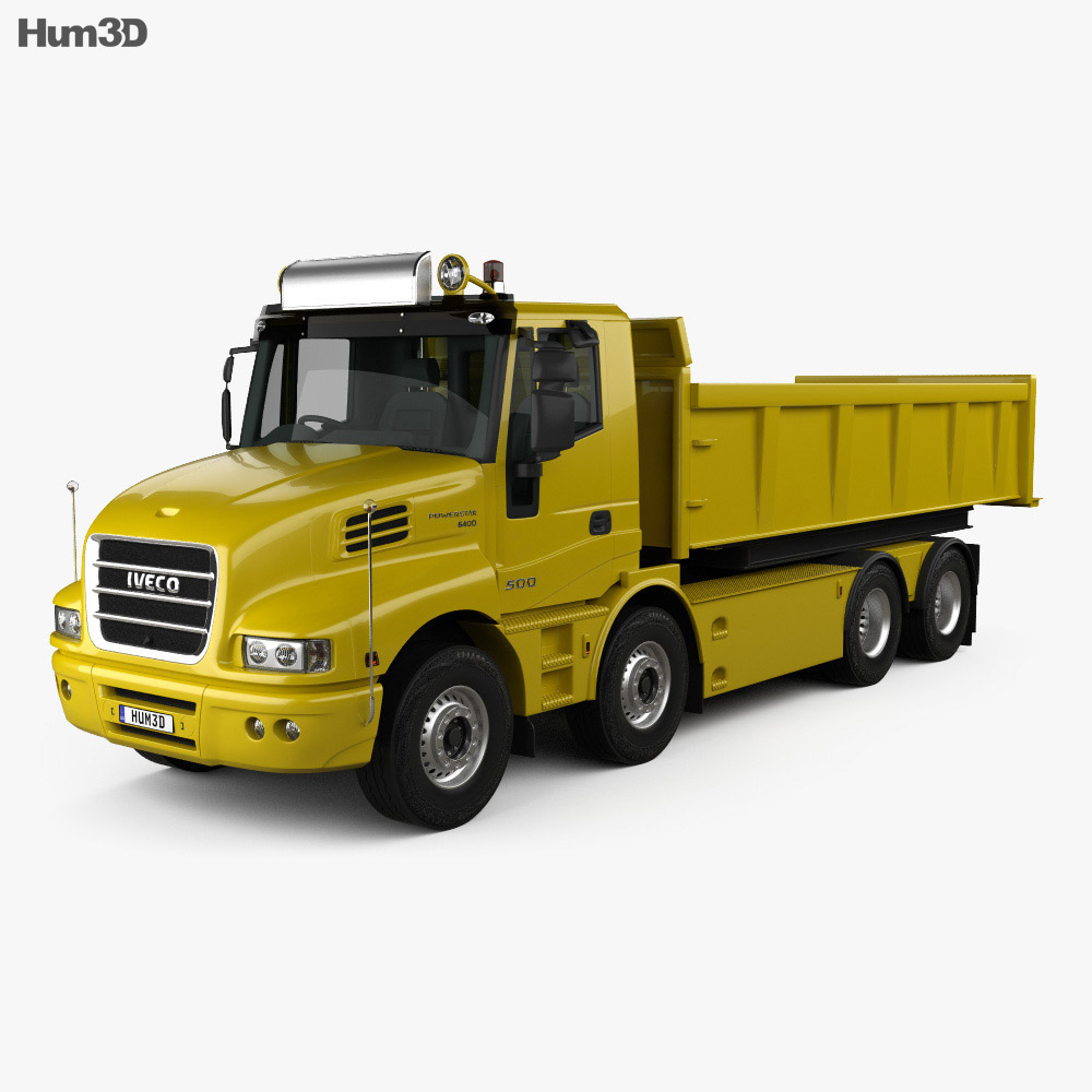 Iveco Strator Tipper Truck 2014 3d model