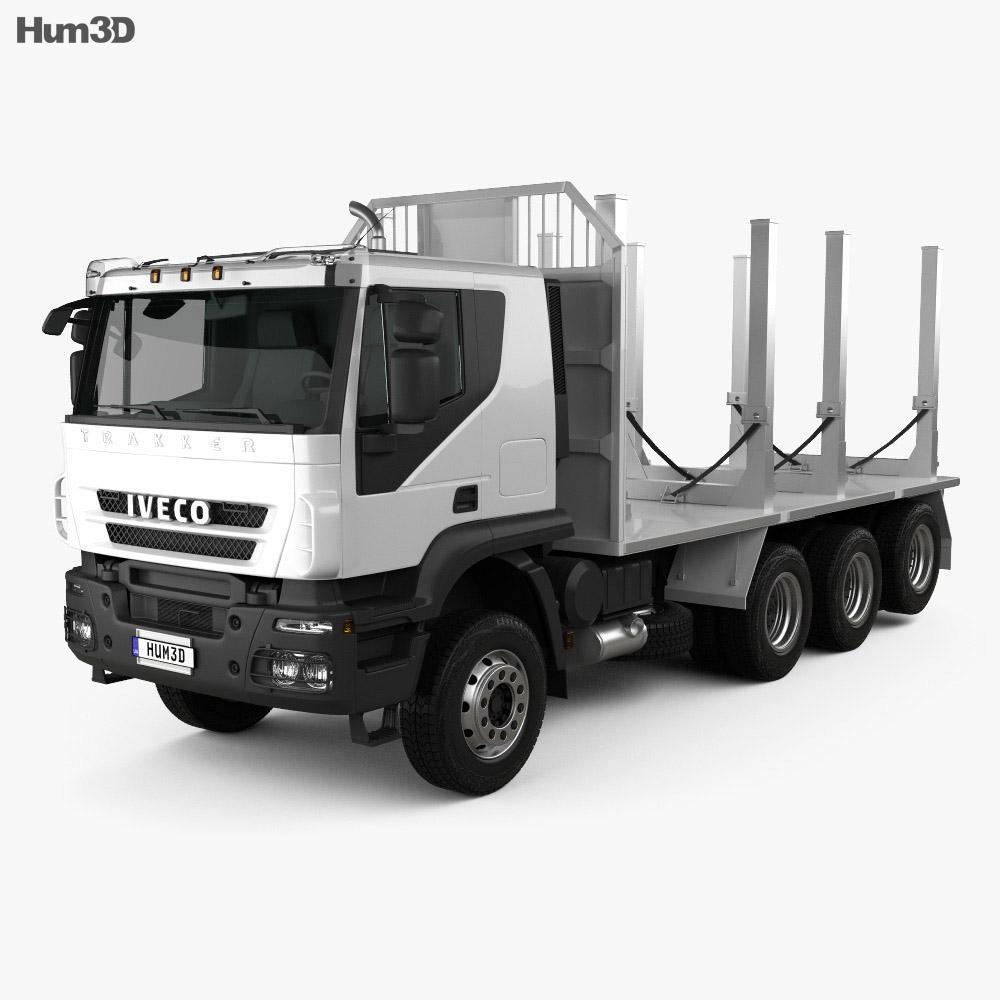 Iveco Trakker Log Truck 2012 3d model