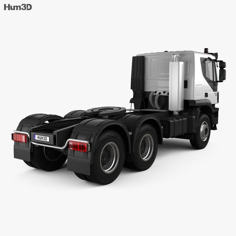 Iveco Trakker Tractor Truck 3-axle 2013 3d model