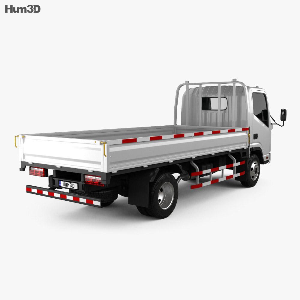 JAC N721 Flatbed Truck 2010 3d model