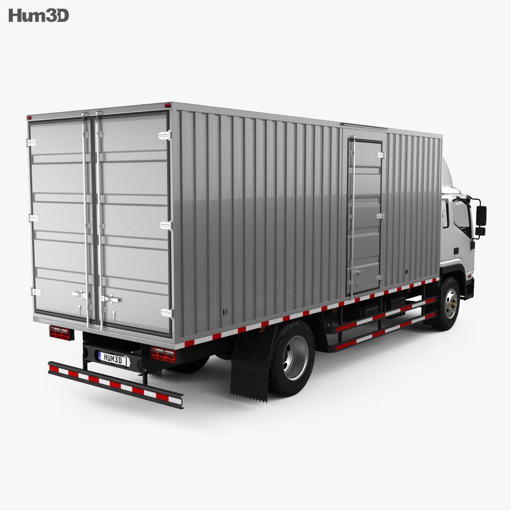 JAC Shuailing W Box Truck 2013 3d model back view