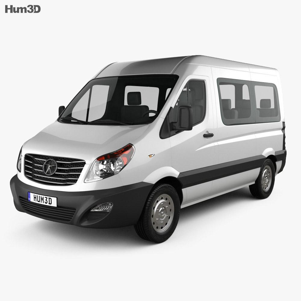 JAC Sunray Passenger Van SWB SR 2014 3d model