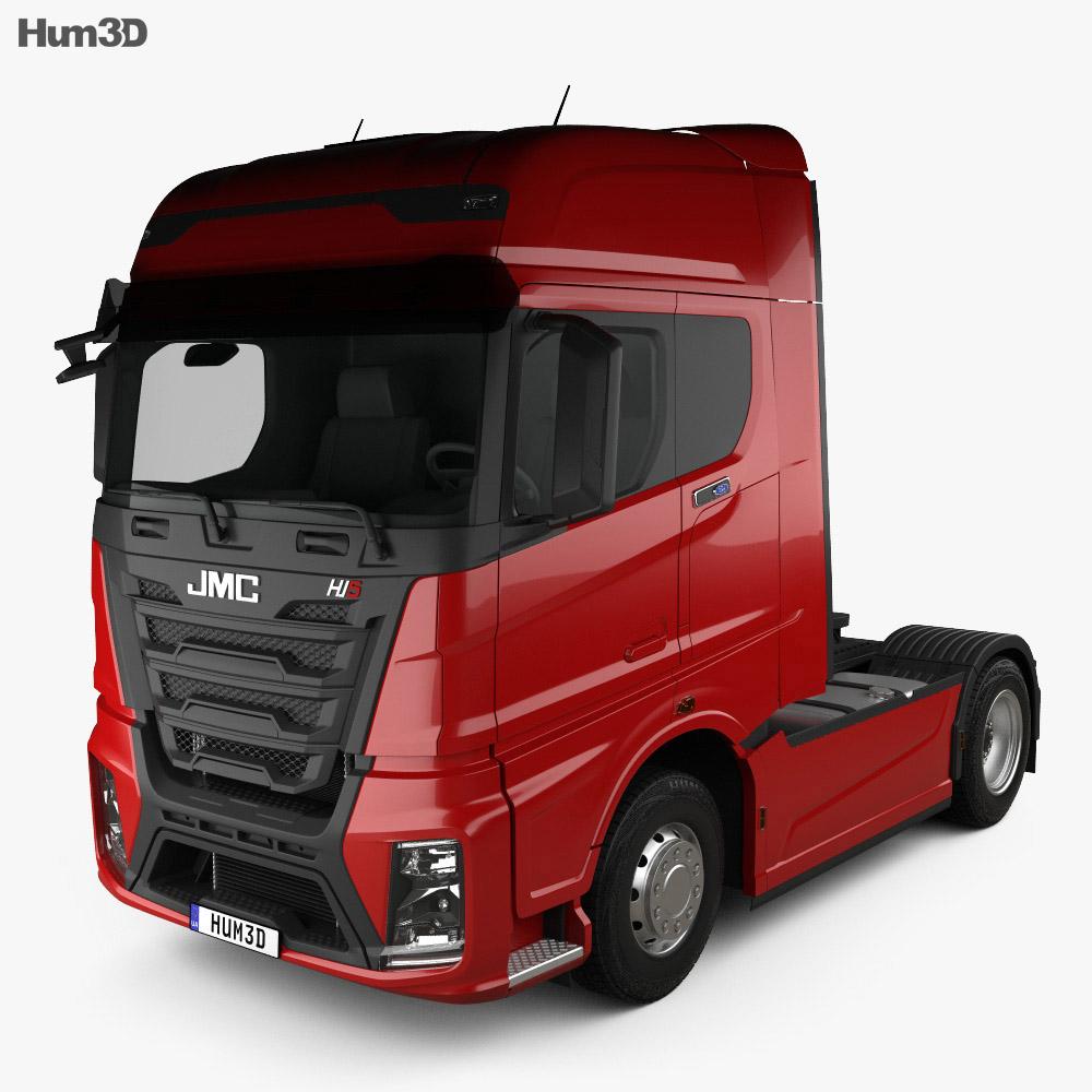 3D model of JMC Weilong HV5 Tractor Truck 2018