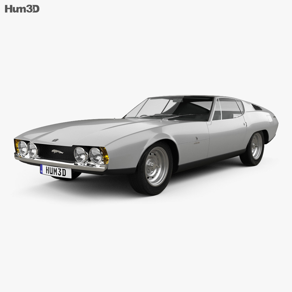 Jaguar Bertone Pirana 1967 3d model