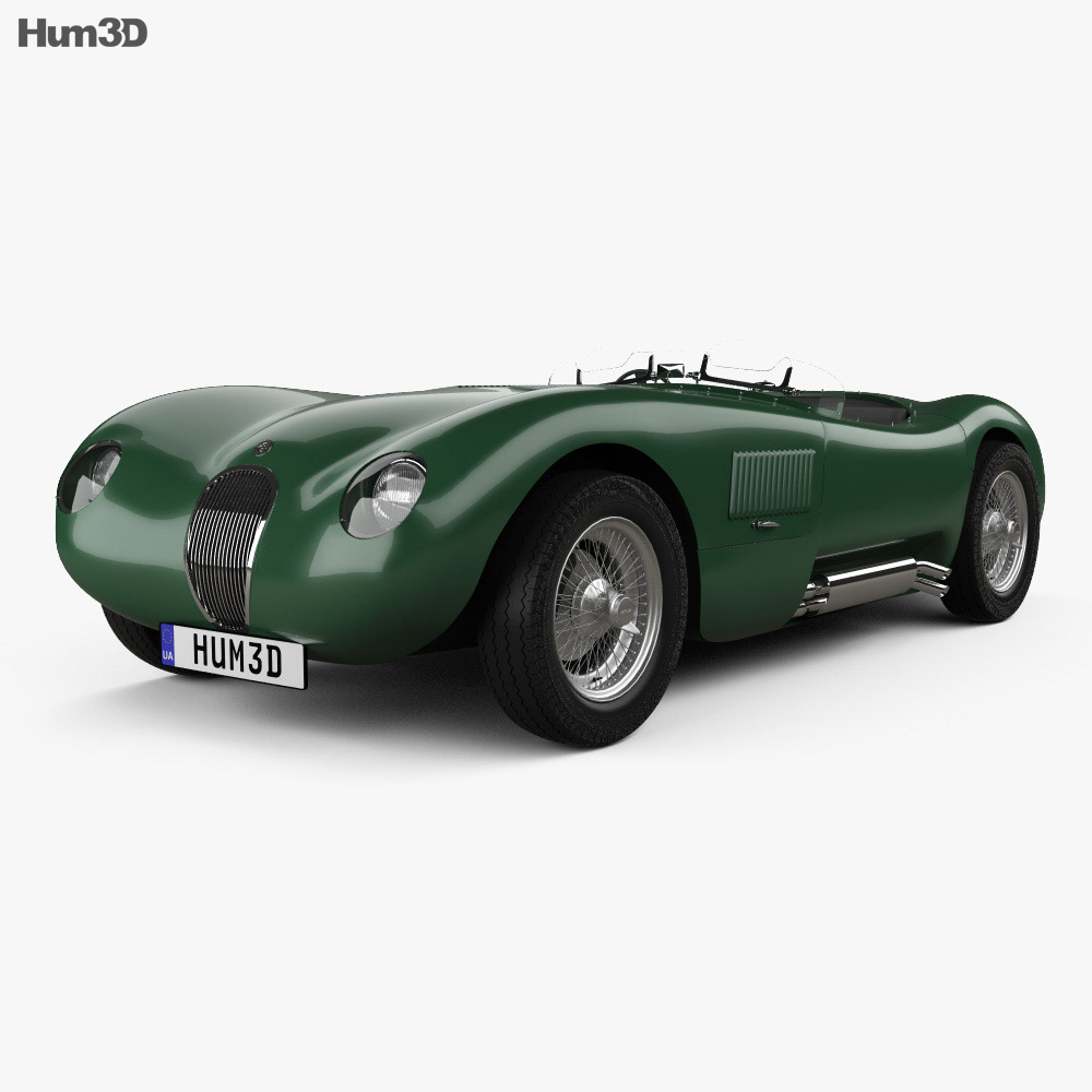Jaguar C-Type 1951 3d model
