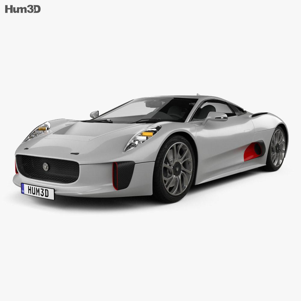 Jaguar C-X75 2013 3d model