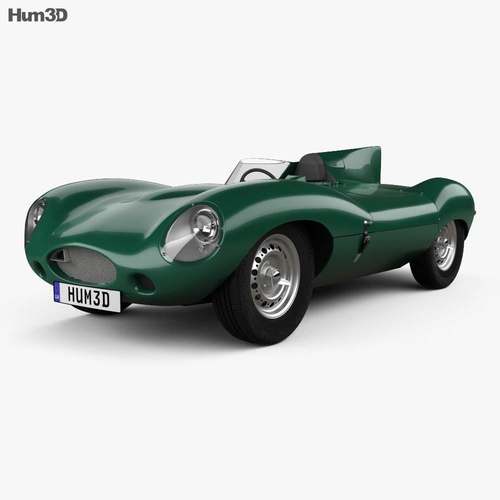 Jaguar D-Type 1955 3d model