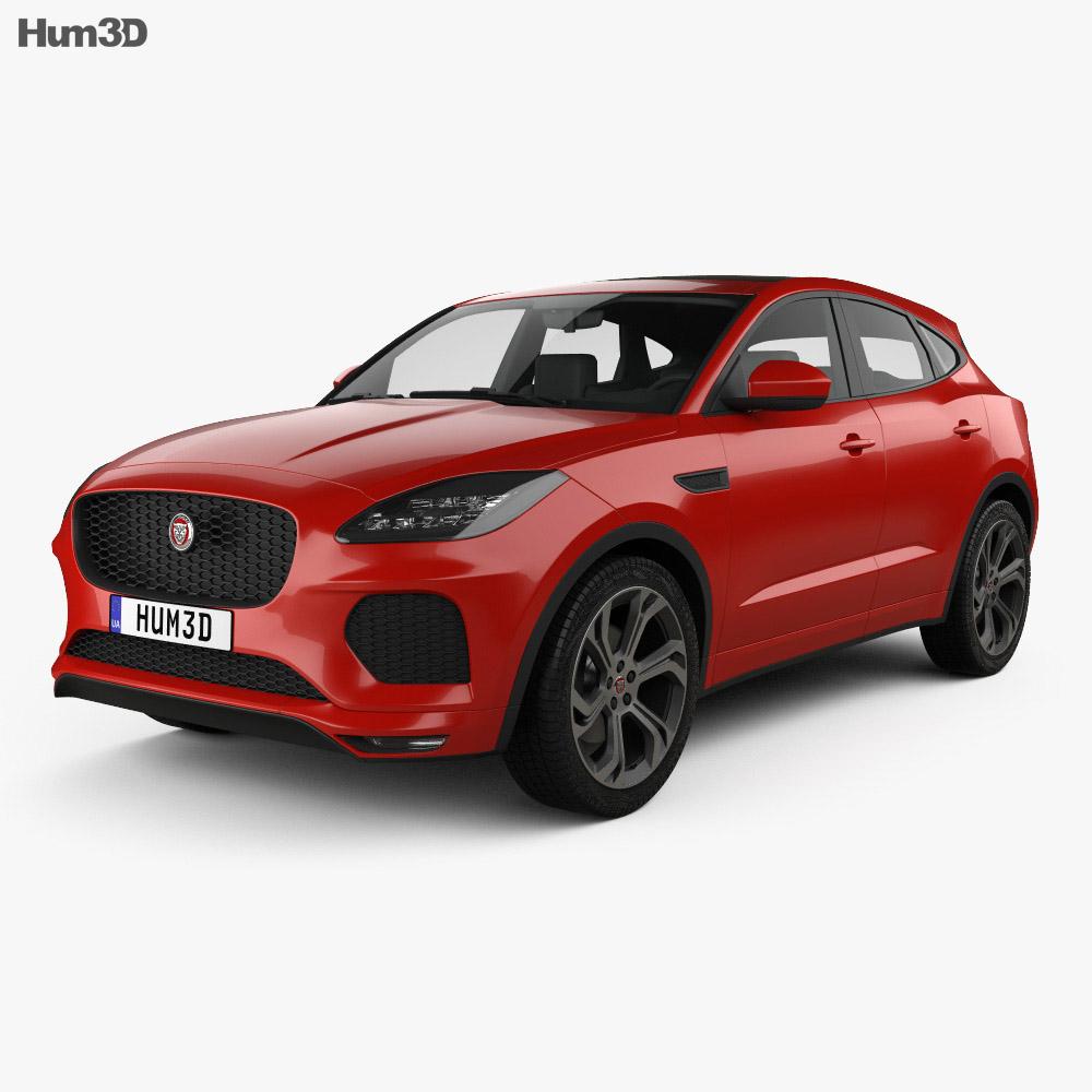 jaguar e pace r dynamic 2017 3d model hum3d. Black Bedroom Furniture Sets. Home Design Ideas
