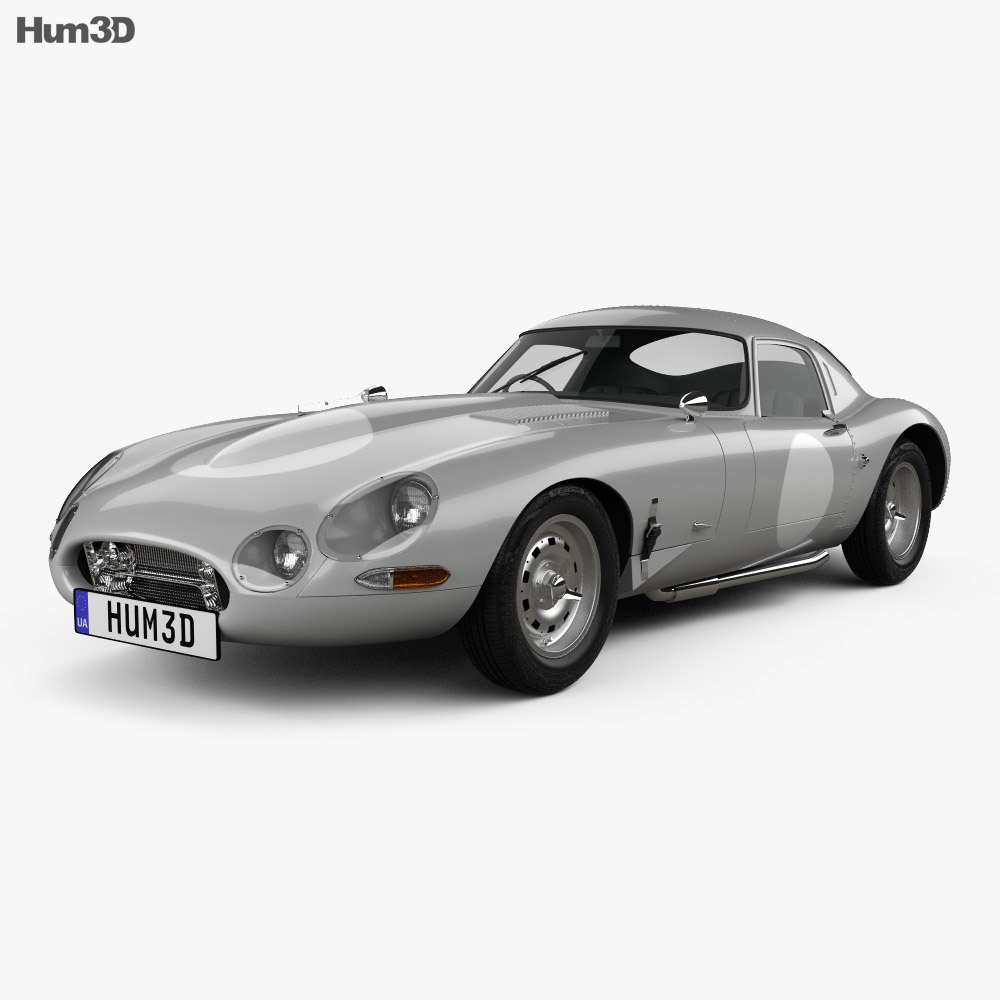 Jaguar E-type Lightweight 1963 3d model
