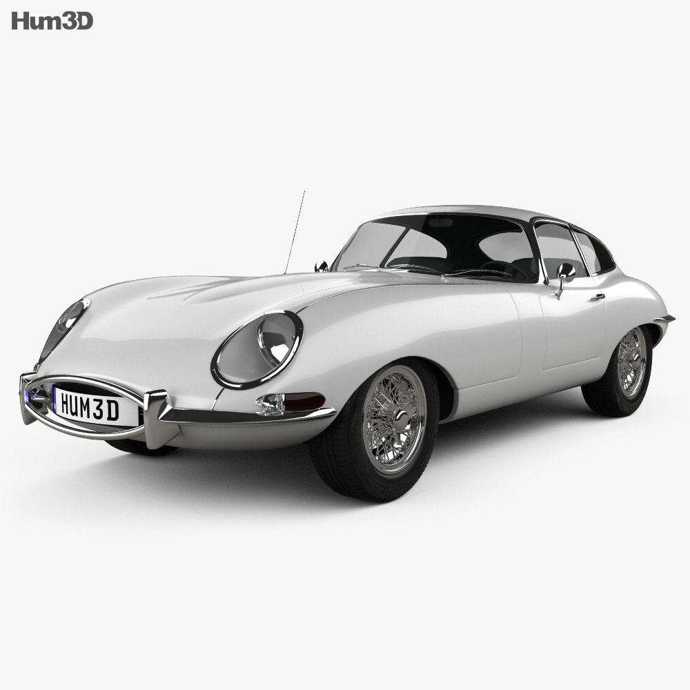 Jaguar E-type coupe 1961 3d model