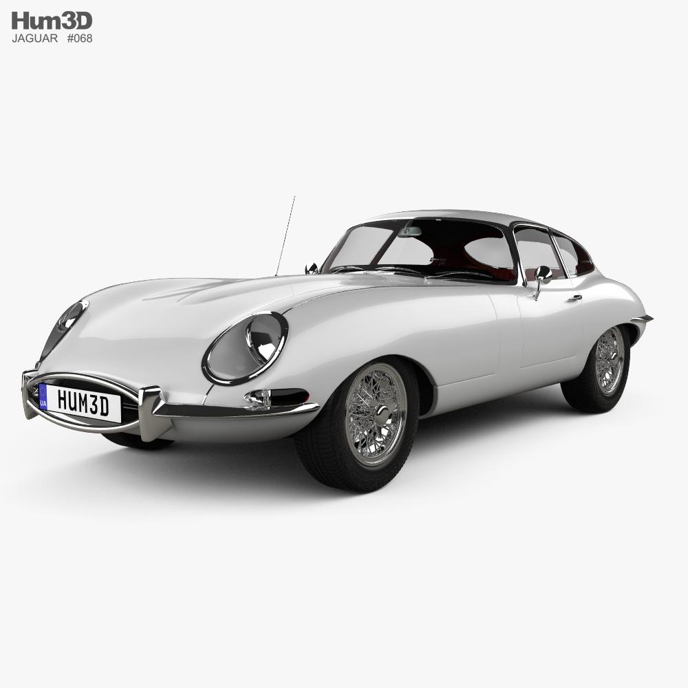 Jaguar E-type coupe with HQ interior 1961 3d model