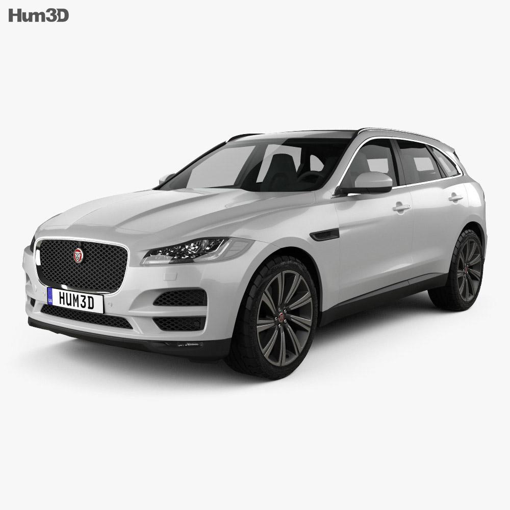 Jaguar F Pace 2016 3d Model