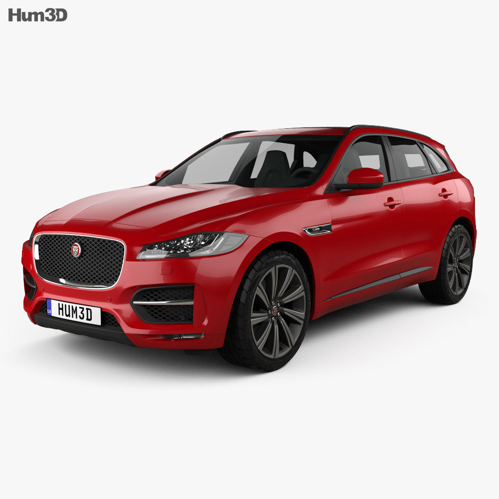jaguar f pace r sport 2016 3d model humster3d. Black Bedroom Furniture Sets. Home Design Ideas