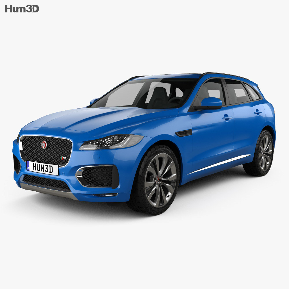 jaguar f pace s 2017 3d model hum3d. Black Bedroom Furniture Sets. Home Design Ideas